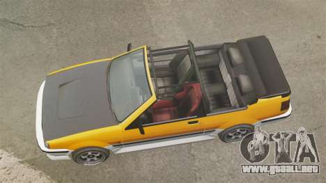 Versión convertible del Futo para GTA 4 visión correcta