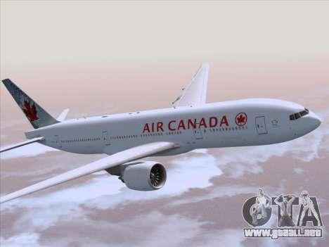 Boeing 777-200ER Air Canada para visión interna GTA San Andreas