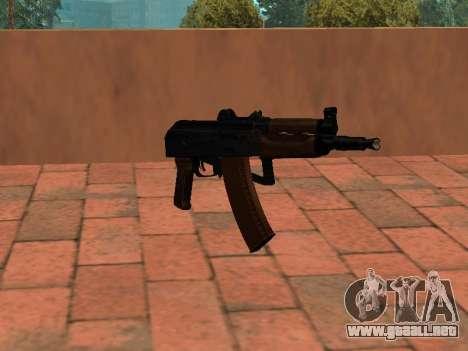 AKS-74U mm para GTA San Andreas segunda pantalla