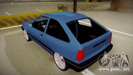 Chevrolet Kadett para GTA San Andreas vista hacia atrás