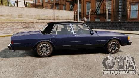 Chevrolet Caprice Brougham 1986 para GTA 4 left