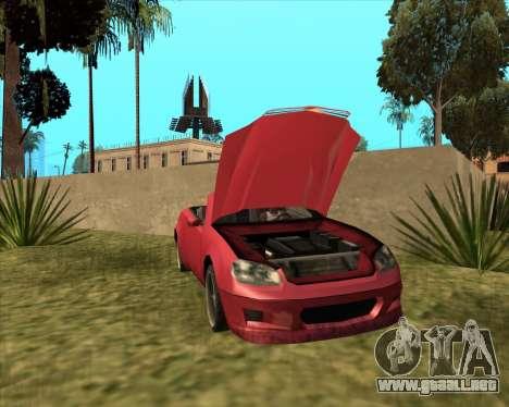 Feltzer Benefactor de GTA 4 para GTA San Andreas vista posterior izquierda