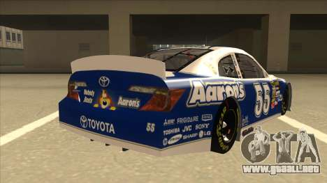 Toyota Camry NASCAR No. 55 Aarons DM blue-white para la visión correcta GTA San Andreas