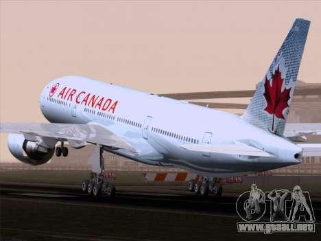 Boeing 777-200ER Air Canada para la visión correcta GTA San Andreas