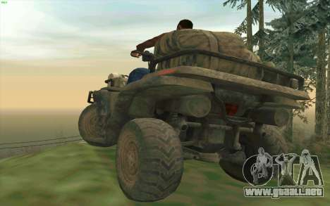 ATV de la medalla de Honor para GTA San Andreas vista hacia atrás