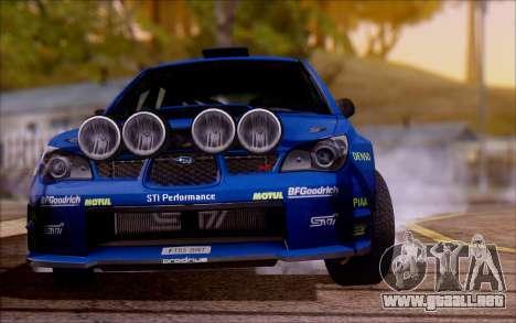 Subaru Impreza WRX STI WRC para la visión correcta GTA San Andreas