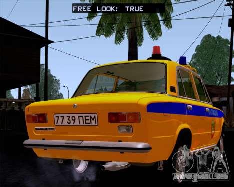 VAZ 21011 policía para GTA San Andreas left
