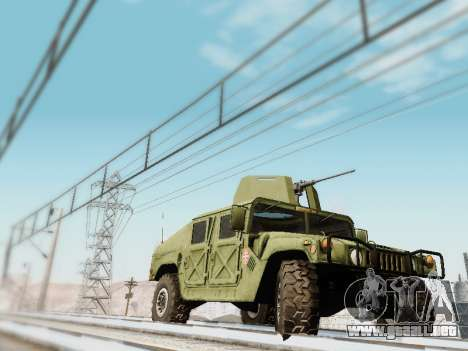 Humvee Serbian Army para GTA San Andreas vista posterior izquierda