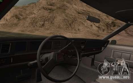 Chevrolet Caprice 1987 para GTA San Andreas interior