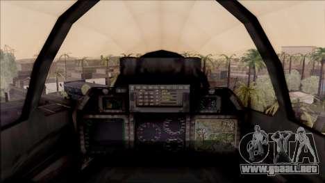 USA Navy Hydra para visión interna GTA San Andreas