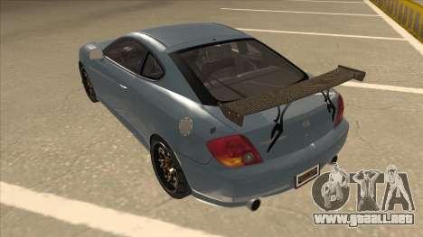 Hyundai Coupe V6 Soft Tuned v1 para GTA San Andreas vista hacia atrás