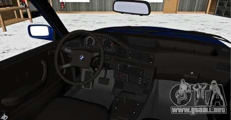 BMW 5-er E28 Hobo para GTA San Andreas vista posterior izquierda