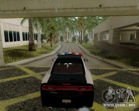 Dodge Charger 2012 Police IVF para GTA San Andreas vista posterior izquierda