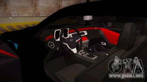 Chevrolet Camaro ZL1 2012 RCPD V1.0 para visión interna GTA San Andreas