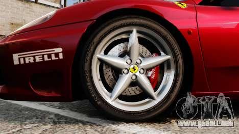 Ferrari 360 Spider 2000 [EPM] para GTA 4 vista hacia atrás