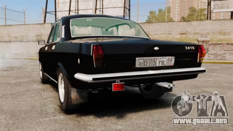 Volga GAZ-2410 v1 para GTA 4 Vista posterior izquierda