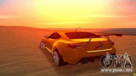 Subaru BRZ Type 5 para GTA Vice City vista lateral