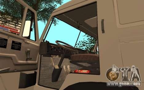 Camiones KAMAZ 53115 para GTA San Andreas vista hacia atrás