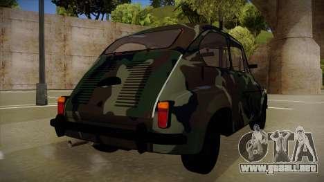 Zastava 750 Camo para GTA San Andreas vista hacia atrás