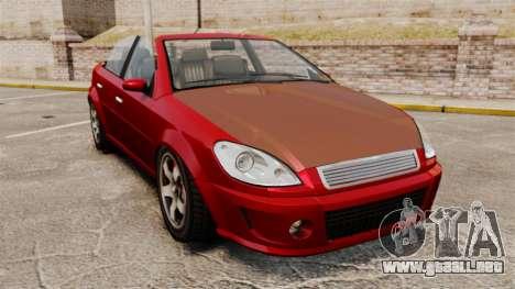 Versión convertible del primer ministro tuning para GTA 4