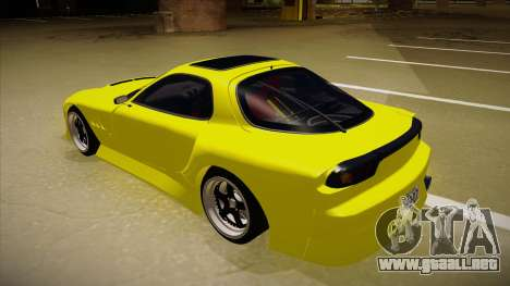 Mazda FD3S BN Sports para GTA San Andreas vista hacia atrás