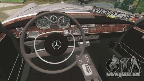 Mercedes-Benz 300 SEL 1971 para GTA 4 vista interior