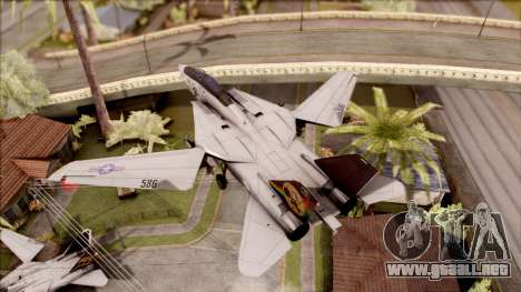 USA Navy Hydra para GTA San Andreas vista posterior izquierda