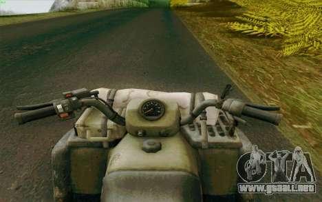 ATV de la medalla de Honor para GTA San Andreas vista posterior izquierda