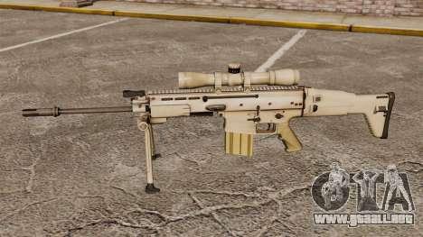 Fusil automático Mk 17 SCAR-H para GTA 4 tercera pantalla