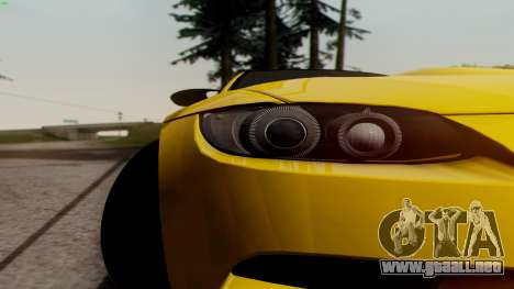 BMW M3 E92 Hamann para visión interna GTA San Andreas