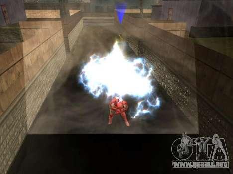 Impacto de iron man en la tierra para GTA San Andreas sucesivamente de pantalla