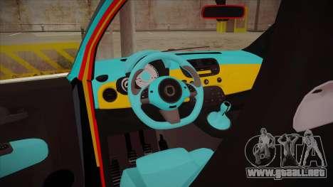 Abarth 500 Esseesse 2010 para visión interna GTA San Andreas