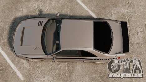 Nissan Skyline R33 NISMO 400R para GTA 4 visión correcta