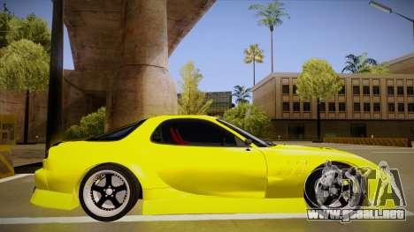 Mazda FD3S BN Sports para GTA San Andreas vista posterior izquierda