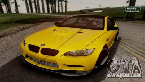 BMW M3 E92 Hamann para GTA San Andreas left