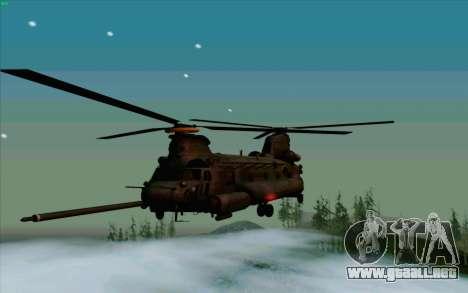 MH-47 para GTA San Andreas vista posterior izquierda