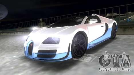Bugatti Veyron Grand Sport Vitesse para GTA Vice City visión correcta