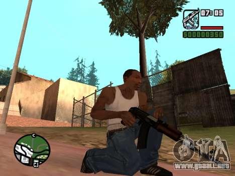 Culata de AK-74 para GTA San Andreas tercera pantalla