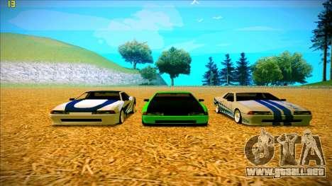 Paintjobs EQG Version for Elegy para GTA San Andreas quinta pantalla