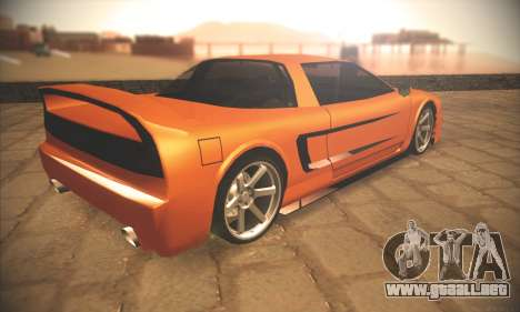 Infernus One para GTA San Andreas vista hacia atrás