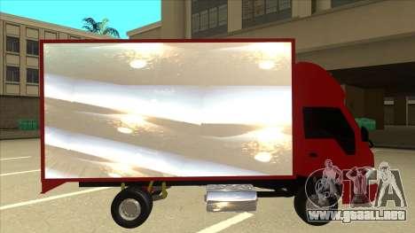 JAC 1040 para GTA San Andreas vista posterior izquierda