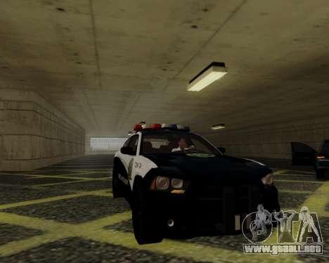 Dodge Charger 2012 Police IVF para visión interna GTA San Andreas