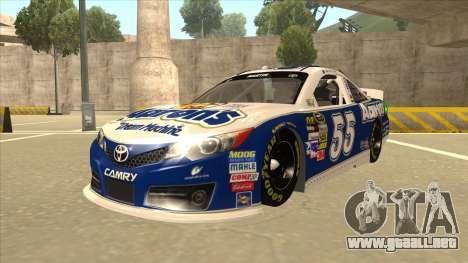 Toyota Camry NASCAR No. 55 Aarons DM blue-white para GTA San Andreas
