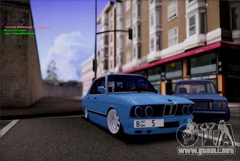 BMW 535I E28 para la visión correcta GTA San Andreas