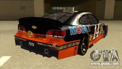 Chevrolet SS NASCAR No. 14 Mobil 1 Bass Pro Shop para la visión correcta GTA San Andreas