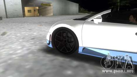 Bugatti Veyron Grand Sport Vitesse para GTA Vice City vista lateral izquierdo