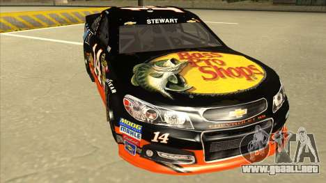 Chevrolet SS NASCAR No. 14 Mobil 1 Bass Pro Shop para GTA San Andreas left