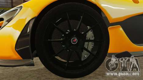 McLaren P1 2013 para GTA 4 vista hacia atrás