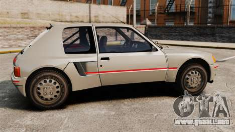 Peugeot 205 Turbo 16 para GTA 4 left