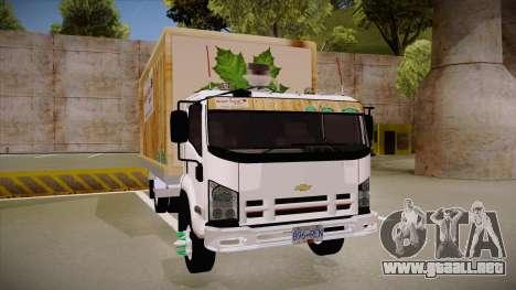 Chevrolet FRR Maple Syrup World para GTA San Andreas vista hacia atrás
